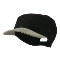 Ball Cap - Black Adjustable 4 Panel Baseball Cap
