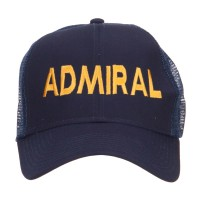 Embroidered Cap - Navy Admiral Embroidered Mesh Cap