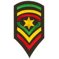 Patch - Army Star Assorted Rasta Patch