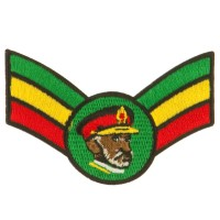 Patch - Crown Wing King Assorted Rasta Patch