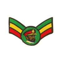 Patch - Crown Wing King Small Assorted Rasta Patch