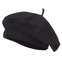 Beret - Black Traditional Ladies Knit Beret