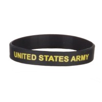 Band - Army Gold Army Silicone Wristband