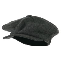 Newsboy - Charcoal Melton Wool Applejack Cap