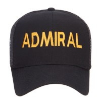 Embroidered Cap - Black Admiral Embroidered Mesh Cap