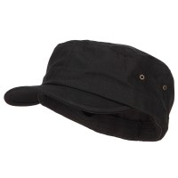 Cadet - Black Big Size Fitted Trendy Army Style Cap