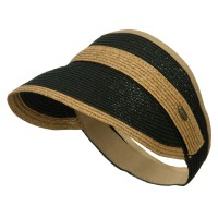 Visor - Black Toast Toyo Braid Belt Buckle Visor