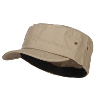 Cadet - Khaki Big Size Fitted Trendy Army Style Cap