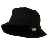 Bucket - Black Big Size Cotton Blend Bucket Hat