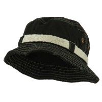 Bucket - Black Big Size Frayed Cotton Bucket