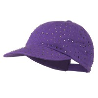 Ball Cap - Purple Bejeweled Glitter Baseball Cap