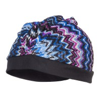 Wrap - Blue Purple Striped Tribal Summer Turban