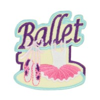 Patch - Yellow Ballet Embroidered Patches