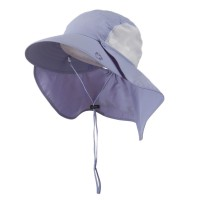Outdoor - Purple UV 50+ Talson Large Bill Flap Hat