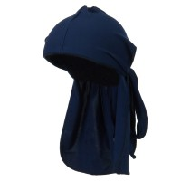 Wrap - Navy Black Diamond Spandex Durag