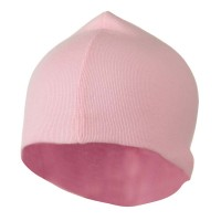 Beanie - Pink White Infant Cotton Rib Beanie