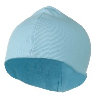Beanie - Blue White Infant Cotton Rib Beanie