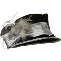 Dressy - Black Bow Stone Wool Felt Hat