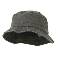 Bucket - Black Big Size Washed Hat
