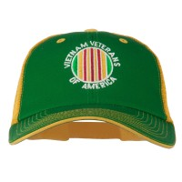 Embroidered Cap - Kelly Gold Vietnam Vet Embroidered Big Cap