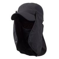 Flap Cap - Charcoal UV 50+ Talson Flap Breathable Cap