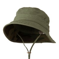 Outdoor - Olive Big Size Camo Washed Bucket Hat