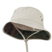 Outdoor - Putty Big Size Camo Washed Bucket Hat