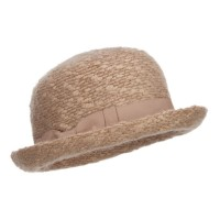 Fedora - Gold Women's Ribbon Band Yarn Bowler