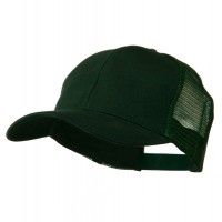 Ball Cap - Dark Green Cotton Brush Mesh Cap