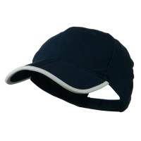 Ball Cap - Navy White Fold A Bill Plain Constructed Cap