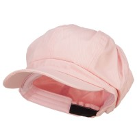 Newsboy - Pink Cotton Elastic Newsboy Cap