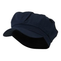 Newsboy - Navy Cotton Elastic Newsboy Cap