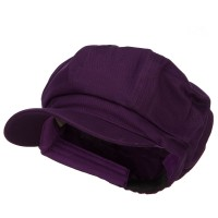 Newsboy - Purple Cotton Elastic Newsboy Cap