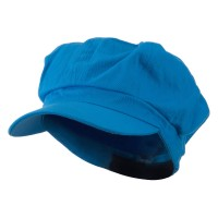 Newsboy - Turquoise Cotton Elastic Newsboy Cap