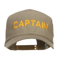 Embroidered Cap - Khaki Captain Embroidered Cap