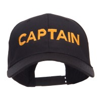 Embroidered Cap - Black Captain Embroidered Cap