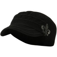 Cadet - Black Checkered Flower Army Cap