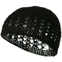Beanie - Black Cotton Kufi Cap