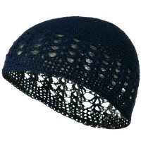 Beanie - Navy Cotton Kufi Cap