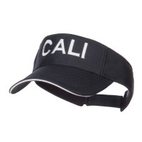 Visor - Black Cali Embroidered Mesh Visor