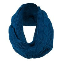 Scarf, Shawl - Navy Cable Round Neck Warmer