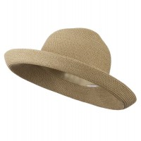 Dressy - Tan Tweed UPF 50+ Cotton Paper Braid Hat