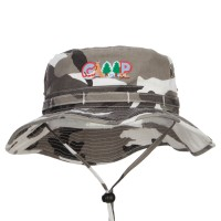 Bucket - City Camping Fun Patched Hunting Hat