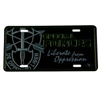 Plate, Frame - Special Army 3D Car Plates