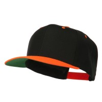 Ball Cap - Neon Orange Classic Wool Blend Cap