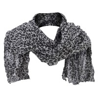 Scarf, Shawl - White Cheetah Print Summer Scarf