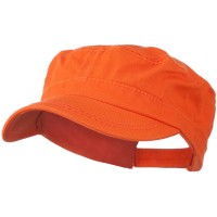 Cadet - Orange Colorful Washed Military Cap