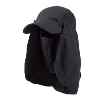 Flap Cap - Charcoal UV 50+ Folding Bill Double Flap Cap