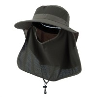 Outdoor - Olive UV 50+ Talson Flap Hat Inner Flap