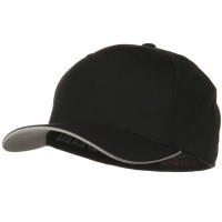 Ball Cap - Black Silver Flexfit Cool Dry Transvisor Cap